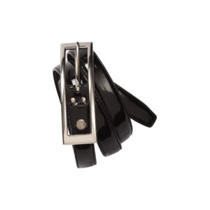 BIZ LADIES SEMI-PATENT BELT