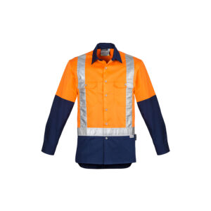 Syzmik Mens Hi Vis Spliced Industrial Shirt – Shoulder Taped