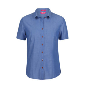 JB's LADIES CLASSIC S/S FINE CHAMBRAY SHIRT