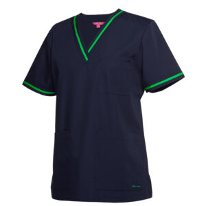 JB's CONTRAST LADIES SCRUBS TOP