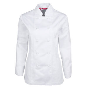 JB'S LADIES L/S VENTED CHEF'S JACKET