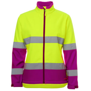 JB's LADIES HI VIS D+N WATER RESISTANT SOFTSHELL JACKET