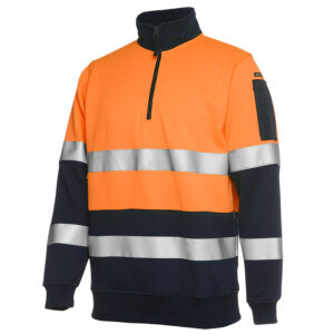 JB'S HI VIS BIOMOTION D+N 1/2 ZIP FLEECY SWEAT