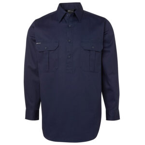 JB'S L/S 190G CLOSE FRONT WORK SHIRT