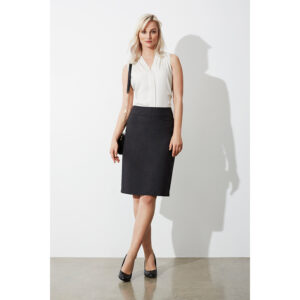 BIZ LADIES CLASSIC KNEE LENGTH SKIRT