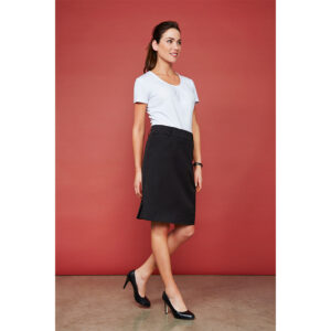 BIZ LADIES DETROIT FLEXI-BAND SKIRT