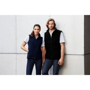 BIZ MENS PLAIN MICRO FLEECE VEST