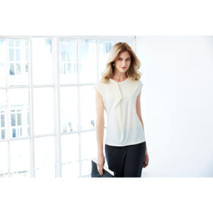 BIZ LADIES MIA PLEAT KNIT TOP
