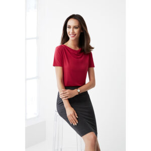 BIZ LADIES AVA DRAPE KNIT TOP