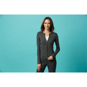 BIZ LADIES 2-WAY ZIP CARDIGAN