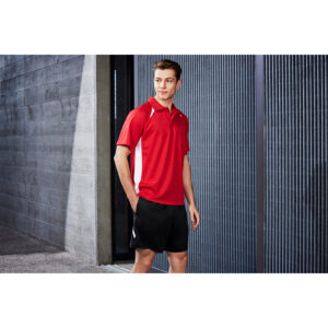 BIZ MENS SPLICE POLO