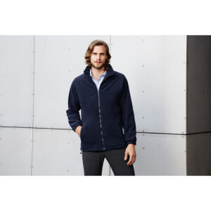 BIZ MENS PLAIN MICRO FLEECE JACKET