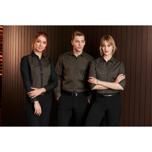 BIZ LADIES RENO PANEL LONG SLEEVE SHIRT