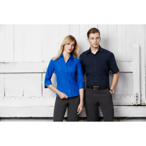 BIZ LADIES PLAIN OASIS 3/4 SLEEVE SHIRT