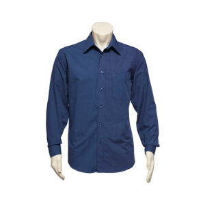 BIZ MENS MICRO CHECK LONG SLEEVE SHIRT