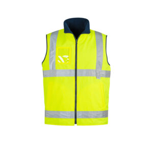Syzmik Mens Hi Vis Lightweight Fleece Lined Vest