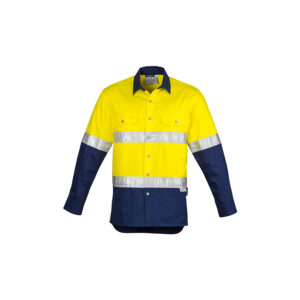 Syzmik Mens Hi Vis Spliced Industrial Shirt – Hoop Taped