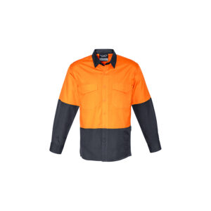 Syzmik Mens Rugged Cooling Hi Vis Spliced Shirt