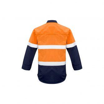 ZW132_OrangeNavy_Back